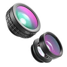 Aukey 3-in-1 Clip-on Lens Set with Supreme Fisheye + 0.67X Wide Angle+ 10X Macro
