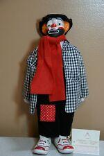 """Heritage Dolls 14"""" Porcelain Musical Hobo Clown Doll"""