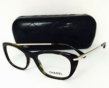 New Authentic Chanel Eyeglasses 3295 714 Dark Havana 51•17•135 With Case