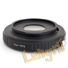 Lens Adapter For Nikon Lens to Pentax Camera With Optical Glass K-3 K-50 K-5 K-7
