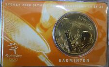 "2000 Australian Sydney Olympic $5 Coin "" BADMINGTON "" # 14 of 28 No Outer Sleeve"