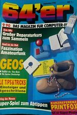 64er (64´er) 09/90 September 1990 C64 Commodore (GEOS, Reparaturen)