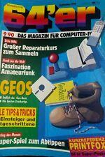 64er (64´er) 09/90 September 1990 C64 Commodore (GEOS, Reparaturen)
