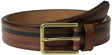 $98 Jack Spade Mens Brown Genuine Leather Belt Size 32 Authentic Printed
