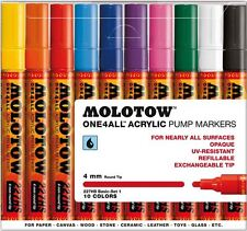 MOLOTOW ONE4ALL 227HS 10 PIECE DRAWING MARKER PEN SET - BASIC SET 1