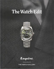 UK Esquire & Harper's Bazaar WATCH EDIT 2017 Style Trenda in Modern Horology NEW