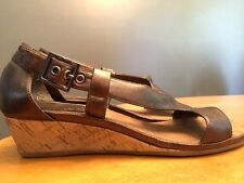 AEROSOLES Womens Wedges High Heels Open Toe Sandals Clogs Shoes Leather Size 7 ~