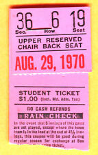 1970 BALT ORIOLES TICKET STUB-DAVE MCNALLY WIN #21 OF THE YEAR-BREWERS-8/29/70