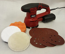 Moss Electric 430w Orbital Power Sander Velcro Sanding Sheets Dust Bag Box