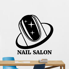 Nail Salon Wall Decal Beauty Manicure Polish Vinyl Sticker Art Decor Mural 28bar