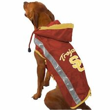 Collegiate Licensed Dog Pet Slicker Raincoat University Southern Cal USC Size S