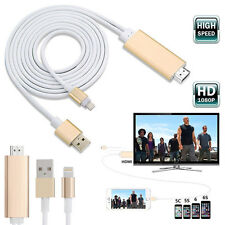8 PIN 2m Apple Fulmine A HDMI HDTV AV Cavo Adattatore Per iPhone 6 6s 5s 5 UK