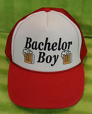 Bachelor Boy Beer Snap Back Mesh Netted Trucker Cap Hat Parks and Recreation