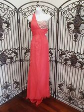 1164 CLARISSE 2317 SZ 3/4 PEACH SORBET  $318 PROM PAGEANT FORMAL GOWN DRESS
