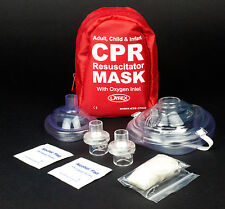 NEW EVER READY ADULT & INFANT CPR MASK COMBO KIT WITH 2 VALVES