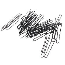 50X Girl Waved Hair U-shaped Bobby Pins Barrette Grips Clip Hairpins Salon Black