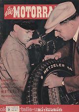 Das Motorrad Heft 3 Februar 1954 Reifenheft Sonderheft zum Thema Reifen