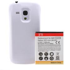 Samsung Galaxy S3 mini i8190 Power Akku Batterie 3500mAh Bumper Cover weiß