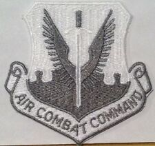 U.S. Air Force Combat Command Military Iron On Patch White & Gray Version
