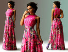 Sexy Women Vintage Long Sleeve Printed Cocktail Evening Party Long Maxi Dress