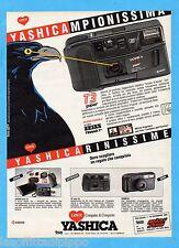 QUATTROR990-PUBBLICITA'/ADVERTISING-1990- YASHICA FOTOCAMERA T3 SUPER