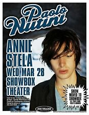 PAOLO NUTINI Gig POSTER March 2007 Seattle Washington Concert