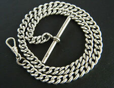 VINTAGE! STERLING SILVER T-BAR FOB CHAIN! STAMPED YEAR 1930!