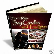 How to Make Scented Soy Candles Tealights 4 D-I-Y Book (s) Home Based Business