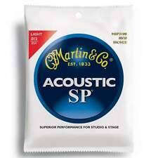 Martin Strings MSP3100 SP 80/20 Bronze Acoustic Guitar Strings Light 12-54