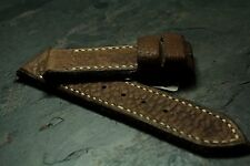 24mm 26mm strap glove tanned Stale Brown Buffalo - ZTRITIUM Vintage for Panerai