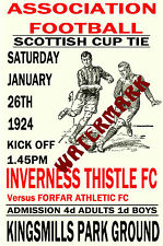 INVERNESS THISTLE - VINTAGE 1920's STYLE MATCH POSTER