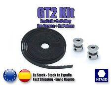 Kit 2 m de correa belt GT2 6mm + 2 poleas pulley reprap 3d printer