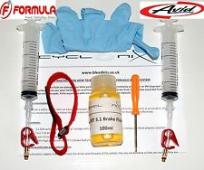 Brake Bleeding Kit For ALL Avid & Formula MTB brakes With 100ml  DOT 5.1 Fluid