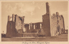 CYPRUS POSTCARD SAINT GEORGE THE LATIN CHURCH FAMAGUSTA GLASZNER 1920 S