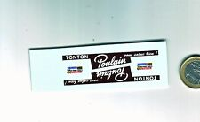 decals decalcomanie deco chocolat poulain tour de france   1/43