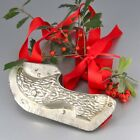 """Vintage French Tinned MetalChristmas Chocolate Mold """"Wooden Shoe"""", 7 ½ inches"""