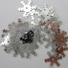 200 Snowflake Hologram Stars Sequins Frozen Confetti Table Sewing Wedding Crafts