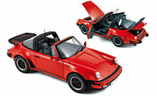 1:18 norev 1987 Porsche 911 3.3 turbo Targa rojo-Red