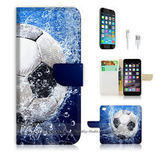 """iPhone 6 (4.7"""") Print Flip Wallet Case Cover! Cool Football Soccer Water P0156"""