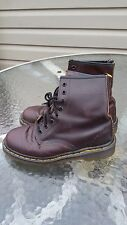 VTG 90's Dr Martens Kids Made in England Leather Brown Boots Grunge Size 6.5