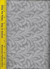 """108"""" WIDE QUILT BACKING FABRIC: FLOWY,  FLW-GRAY, 100% COTTON, By The Yard"""