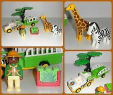 * PLAYMOBIL 1-2-3 123 * SAFARI RANGER SET / JEEP / ANIMALS * FREE UK DELIVERY *