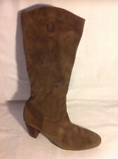 Ecco Brown Mid Calf Suede Boots Size 39