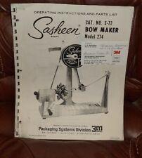 Digital PDF Instruction Book By 3M Sasheen S-72 Bow Maker