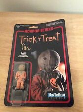 SIGNED - Douglas Pipes Trick 'r Treat Figure Sam ReAction + Pic