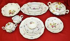 MITTEREICH Bavaria (Germany) Meissen Floral China 91 pc set MINT Condition