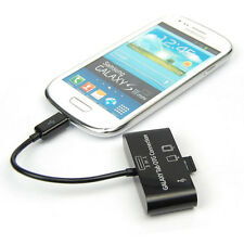 3-in-1 SD MMC TF Card Reader HUB USB OTG Connection Kit For Smart Phone