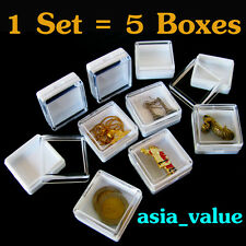 5 Clear Case Storage Box Plastic Craft Beads jewelry Gemstone Protection Display