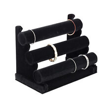 Plixio Jewelry Watch Bracelet Holder Display Stand T-Bar Organizer  Black Velvet