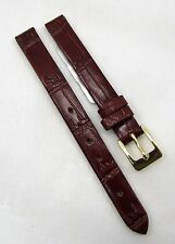 10mm BANDA Pastel Gator Brown / Red Genine Leather Watch Strap Band
